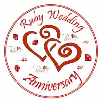 40th Ruby Wedding Anniversary